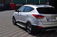 Hyundai IX-35 Боковые пороги Allmond Grey