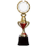 Награда (приз) спортивная JZ-19818C (пластик, h-31см, b-8,5см, золото)