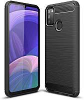 Чехол Carbon для Samsung Galaxy M21 / M215 бампер оригинальный Black