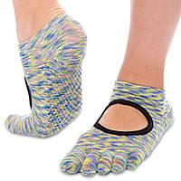 Носки для йоги с закрытыми пальцами Zelart FI-0438 (полиэстер, хлопок, р-р 36-41, цвета в ассортименте)