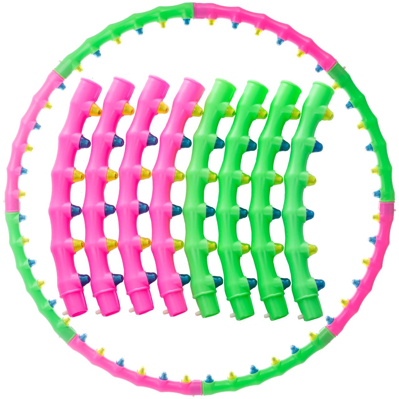 Обруч массажный Хула Хуп Zelart Hula Hoop DOUBLE GRACE MAGNETIC JS-6005 (пластик, 8 секций с магнитами,