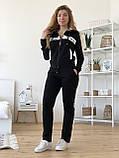 Турецкий черный спортивный костюм Valentino, фото 3