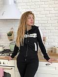 Турецкий черный спортивный костюм Valentino, фото 7