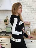 Турецкий черный спортивный костюм Valentino, фото 6