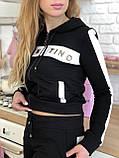 Турецкий черный спортивный костюм Valentino, фото 5