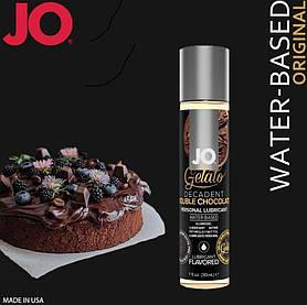 Смазка на водной основе System JO GELATO Double Chocolate (30 мл) без сахара, парабенов и гликоля