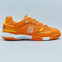 Обувь для футзала мужская Zelart OB-90202-OR размер 40-45 оранжевый