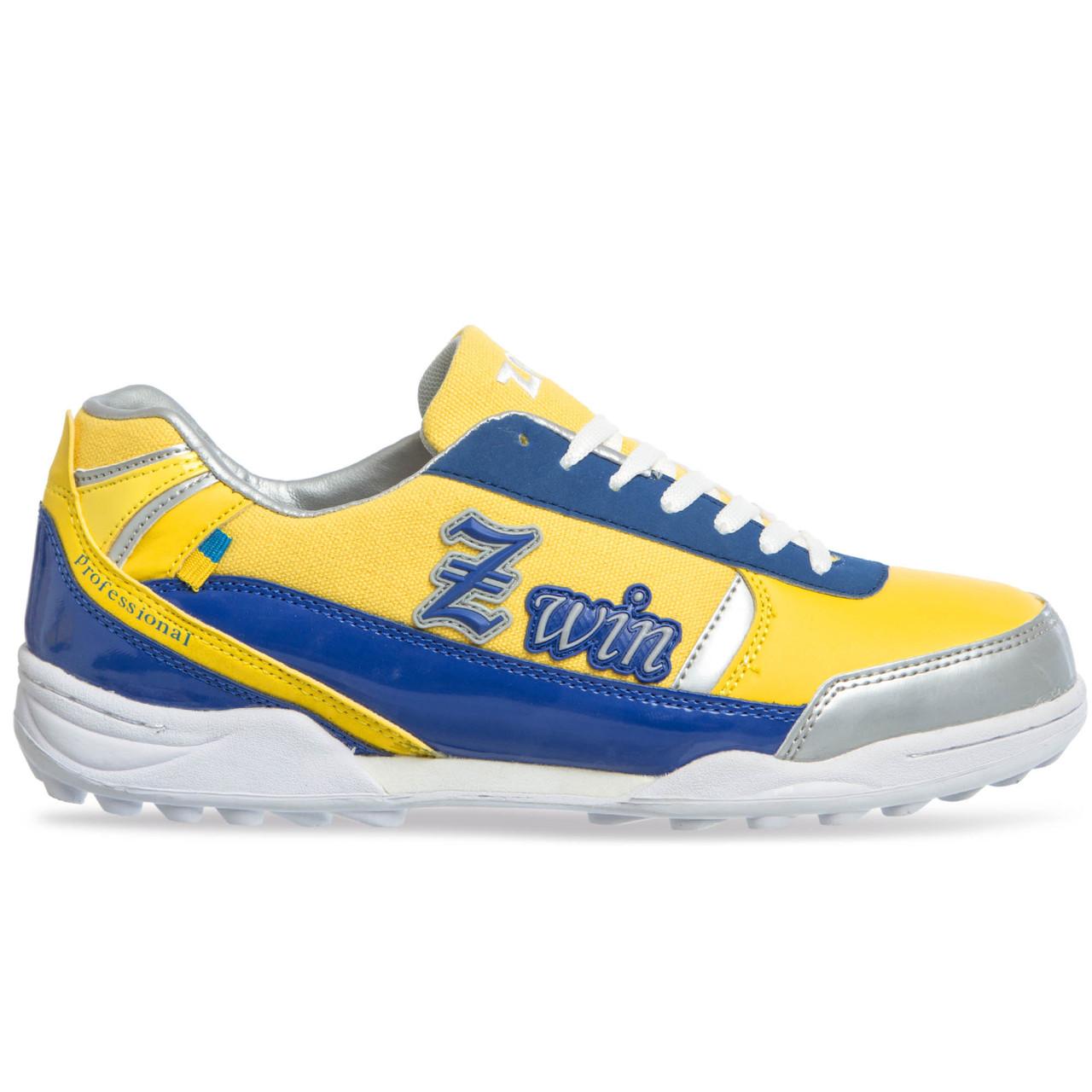 Сороконожки обувь футбольная Zelart OB-90203-YB размер 40-45 желтый-синий