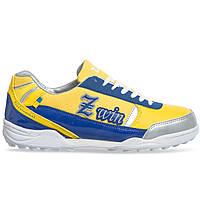 Сороконожки обувь футбольная Zelart OB-90203-YB размер 40-45 желтый-синий, фото 1