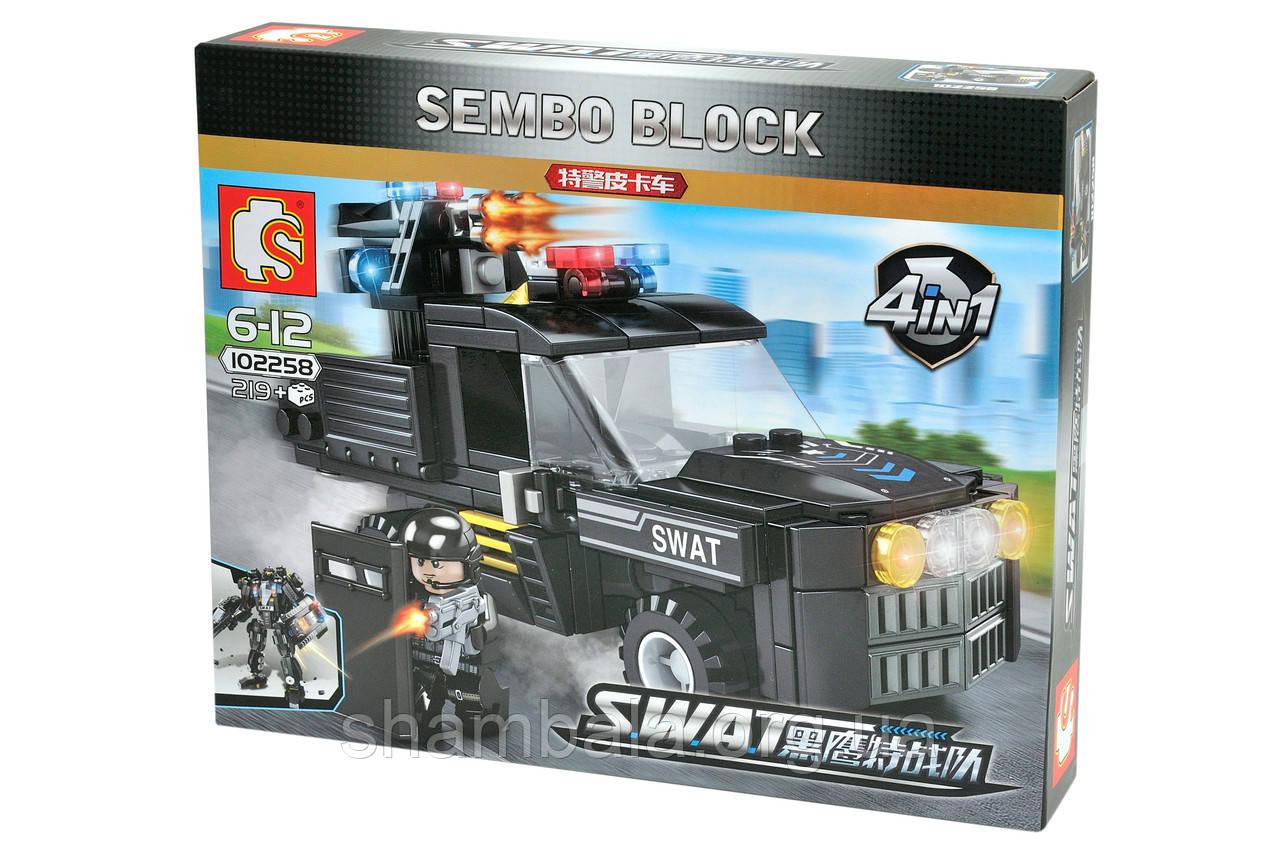 "Трансформер-конструктор  Sembo Block ""SWAT"" 4 in 1 (073620)"