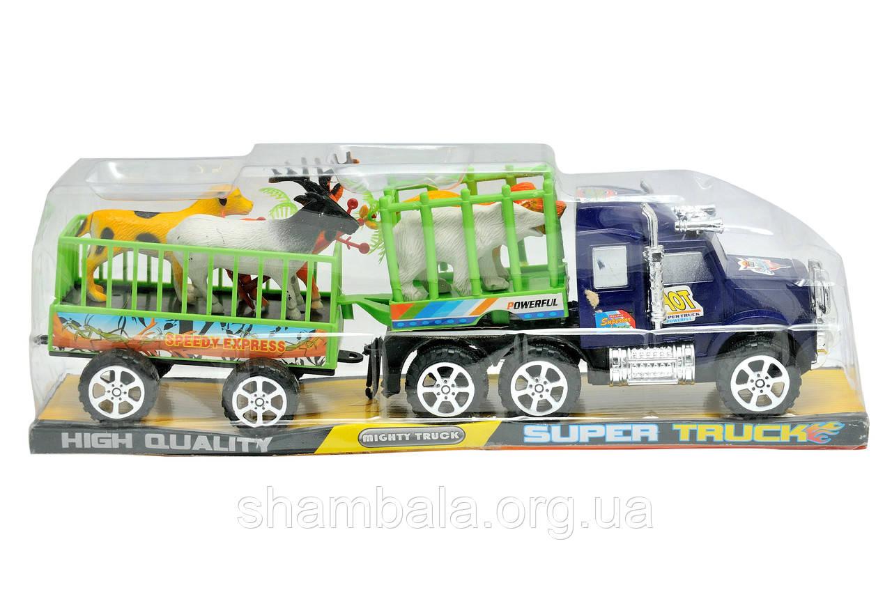 """Набор грузовик и звери XZC """"Super Truck"""" powerful (067155)"""