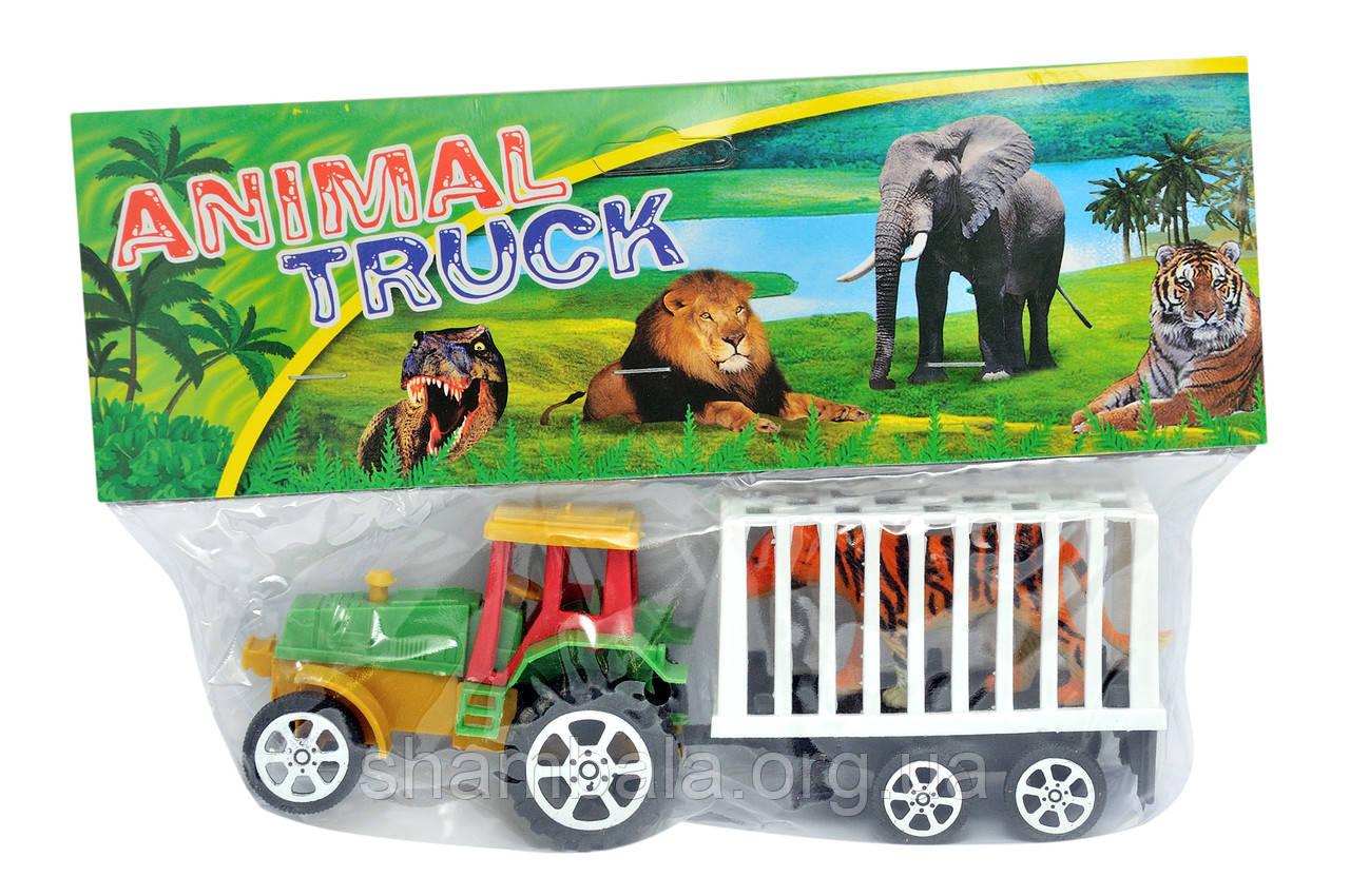 """Трактор и тигр Toys """"Animal Truck"""" (065458)"""