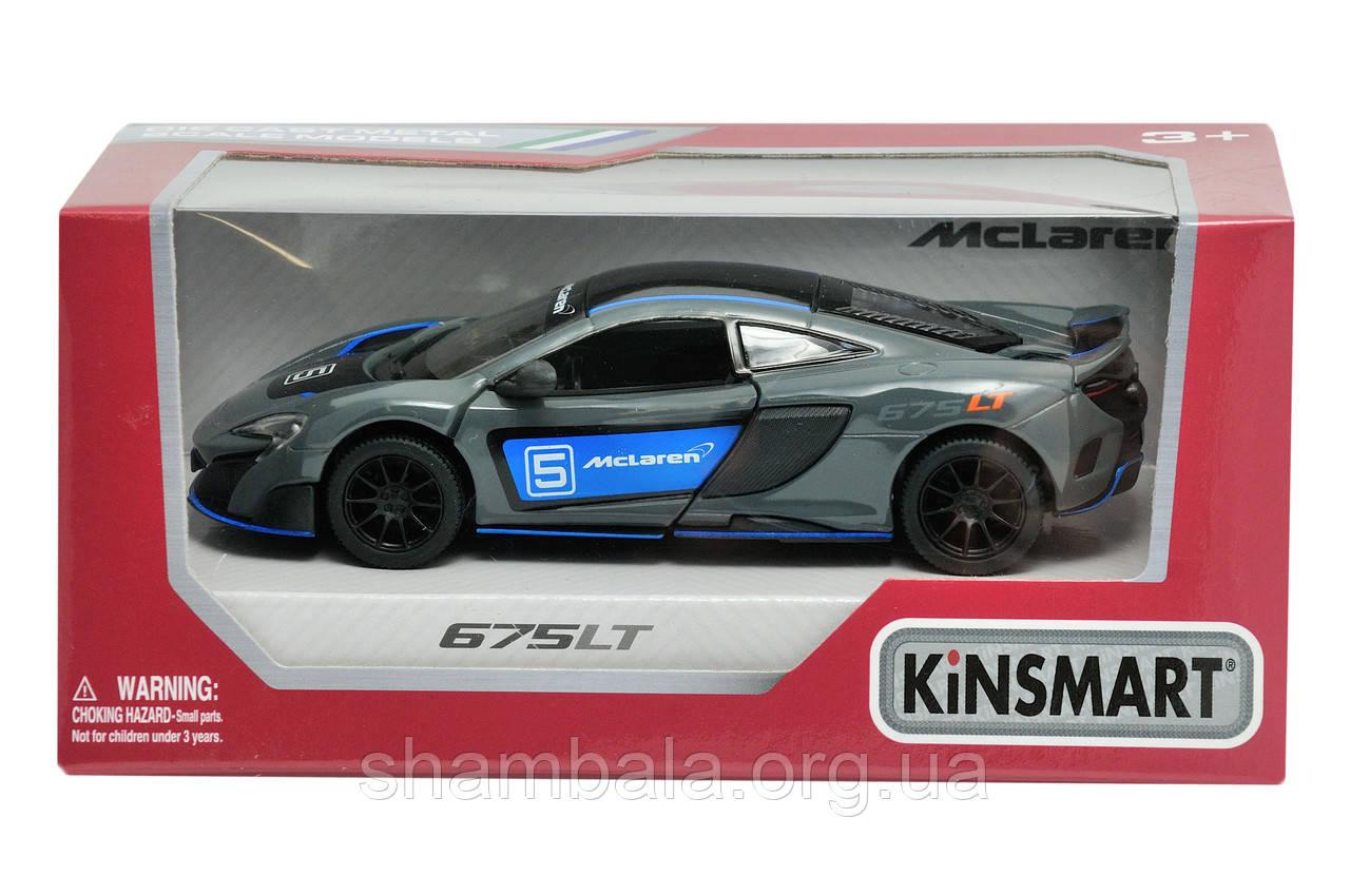 "Спортивная машина Kinsmart ""Mc laren 675 LT black-blue"" (062204)"