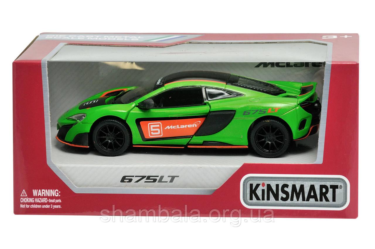"Спортивная машина Kinsmart ""Mc laren 675 LT green""  (062204)"
