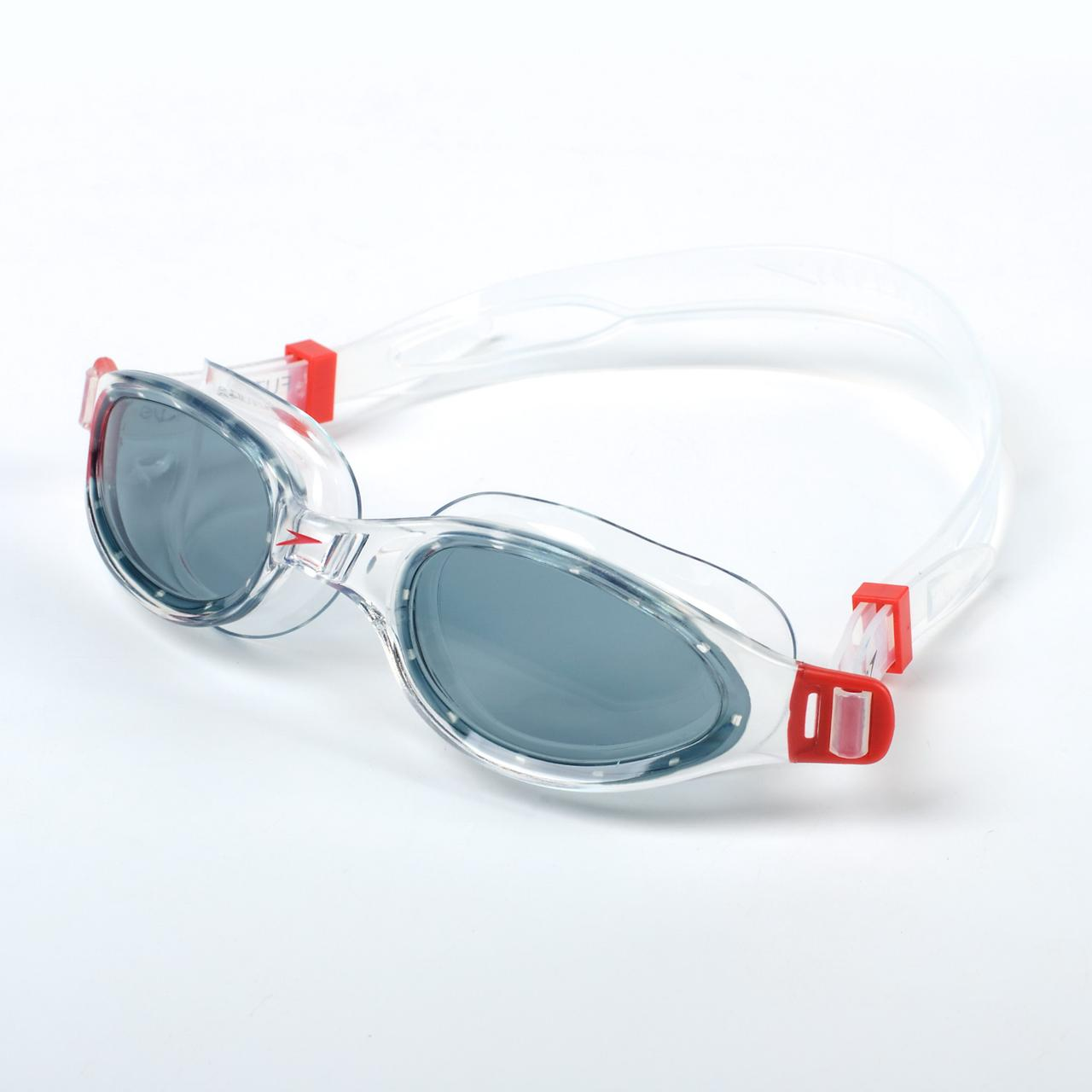 Очки для плавания SPEEDO FUTURA PLUS 8090093557 (поликарбонат, термопластичная резина, силикон, белый-серый)