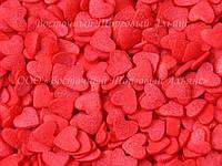 Посыпки кондитерские — Сердца красные