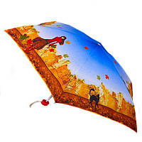 Зонт женский облегченный компактный механический синий ZEST