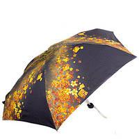 Зонт черный женский облегченный компактный механический ZEST