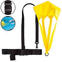Гальмівний парашут для плавання Zelart SWIMMING BELT WITH CHUTE PL-3039 (PL, латекс)