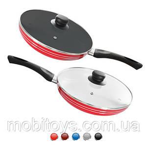 Сковорода с антиприг. покрытием с крышкой 20 см, MH-0622
