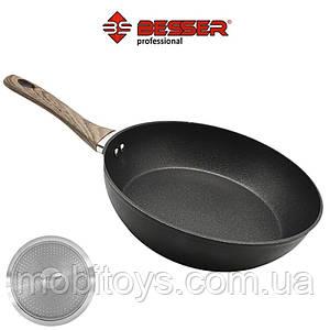 """Сковорода-сотейник индукционная дно """"Besser Deep"""" 28 см Granite"""