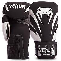 Перчатки боксерские кожаные на липучке VENUM IMPACT VENUM-03284 (р-р 10-14oz, цвета в ассортименте)