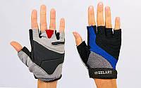 Перчатки для фитнеса женские Zelart ZG-3604 размер XXS-M черный-синий-серый