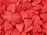 Посыпки кондитерские — Сердца красные большие