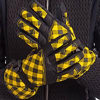 Перчатки горнолыжные теплые женские B-120 (р-р M-L, L-XL, уп.-12пар, цена за 1пару, цвета в ассортименте)