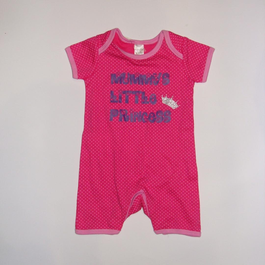 Ромпер для новорожденных розовый в горошек Princess Miniclub р.62см (0-3мес)