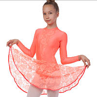 Платье рейтинговое (бейсик) с длинным рукавом и гипюровыми вставками Zelart DR-1641 размер 32-42, рост 122-164см цвета в ассортименте