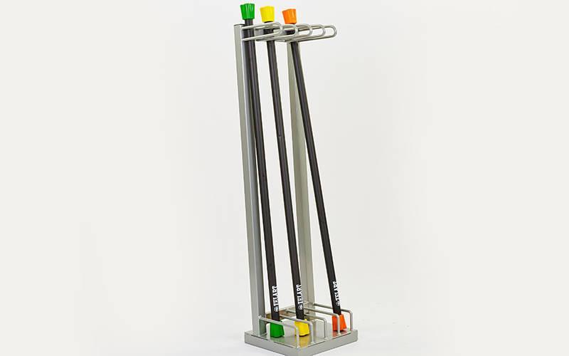 Підставка (стійка) для бодибаров Zelart TA-6764 (метал, р-р 30х32х120см)