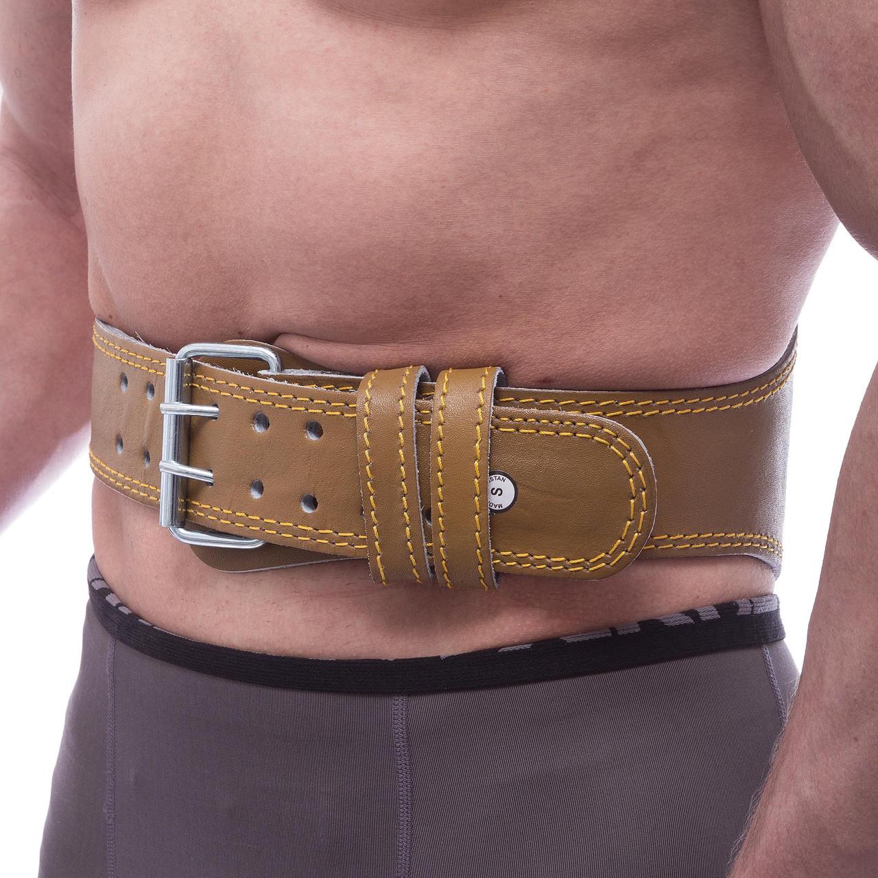 Пояс атлетический кожаный FAIRTEX 161074 (ширина-6in (15см), р-р S-XL, с подкладкой для спины,