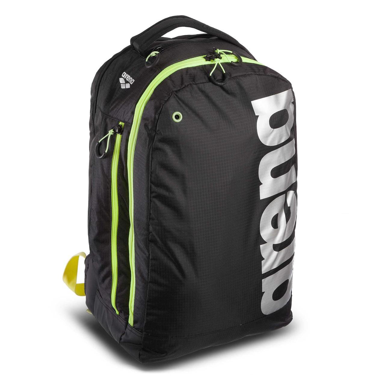 Рюкзак спортивний ARENA AR-1E359-50 FAST URBAN BACKPACK (поліестер, V-32л, р-р 20х50х30см, чорний-салатовий)