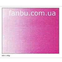 Креп бумага с переходом ярко малиновая №600/1