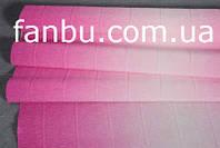 Креп бумага с переходом ярко малиновая №600/1,производство Италия