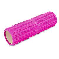 Роллер для занятий йогой и пилатесом Grid Spine Roller l-45см FI-6674 (d-14см, l-45см, цвета в ассортименте)