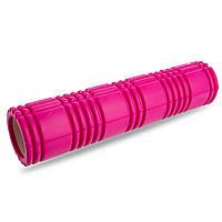 Роллер для занятий йогой и пилатесом Grid 3D Roller l-61см FI-4941 (d-14,5см, l-61см, цвета в ассортименте)