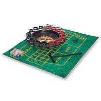 Рулетка подарочная (алко рулетка) IG-1805 (1рулетка, 16 рюмок, 60 фишек, 2 метал.шарика, 1 игровое поле, 1 стик, р-р 30,5х30,5х6см)