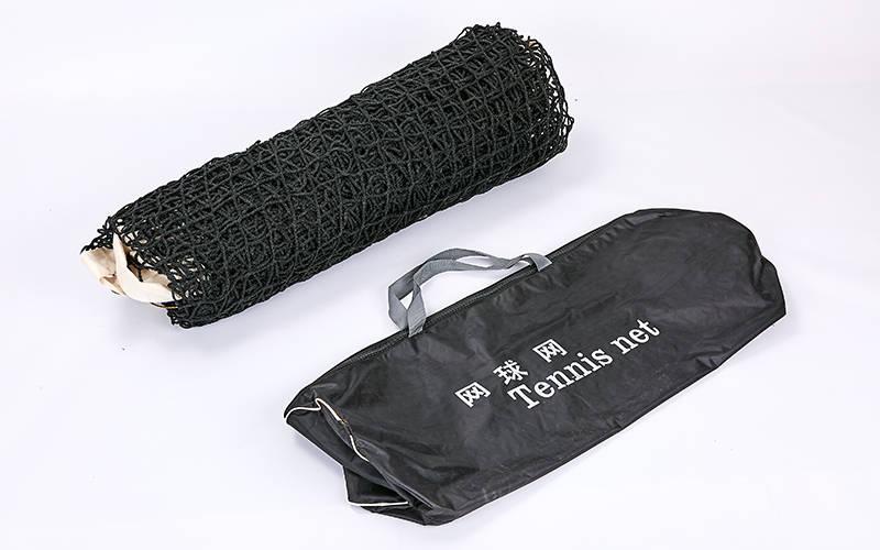Сетка большой теннис С-0051 (нейлон, р-р 12,8х1,08м, ячейка 5x5см, с метал.тросом, черный)