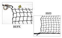 Сетка большой теннис Тренировочная UR SO-5310 (d-2,5мм, р-р 12,8x1,08м, ячейка 4,5см, метал. трос., черный)