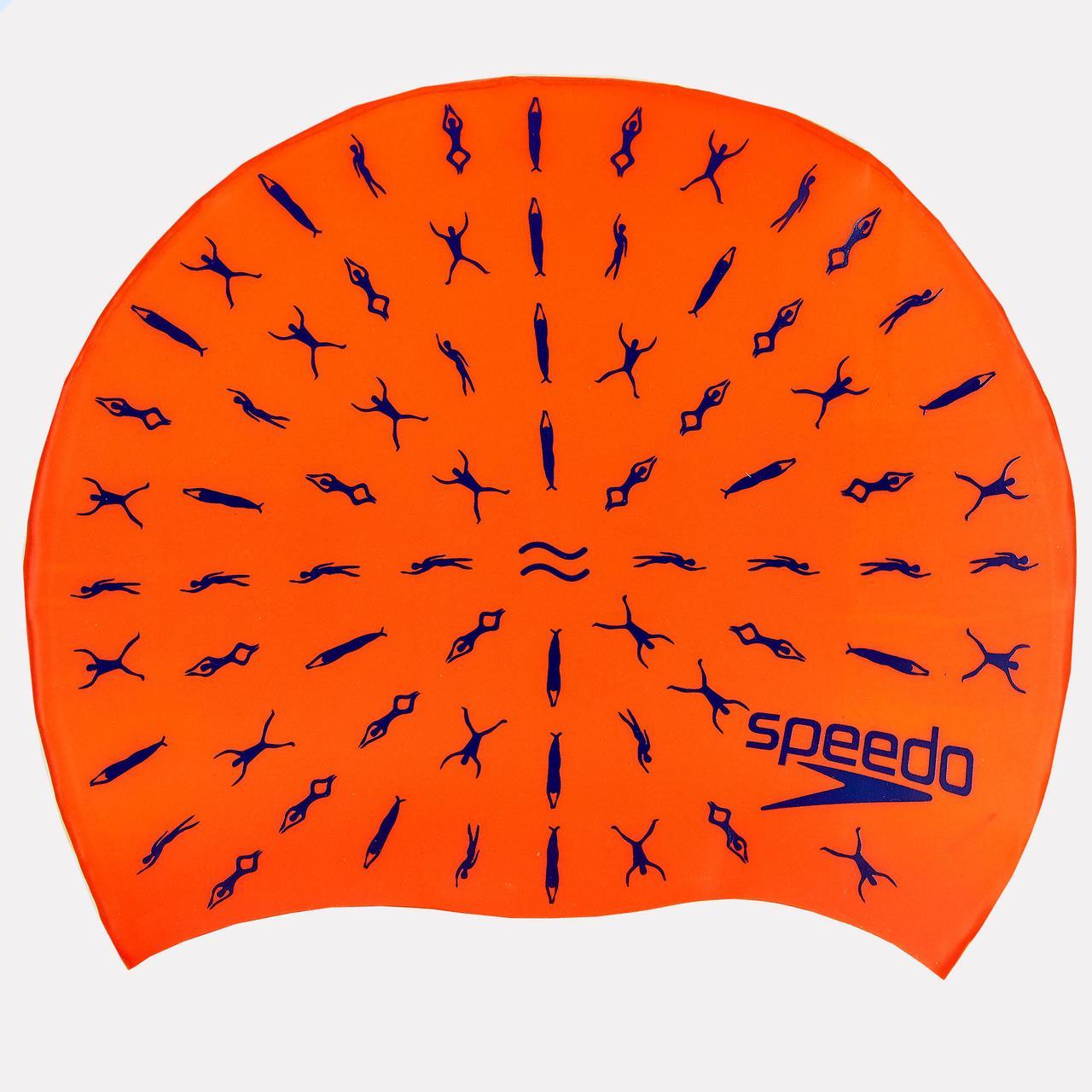 Шапочка для плавання дитяча SPEEDO JUNIOR SLOGAN PRINT 808386B966 (силікон, червоний)