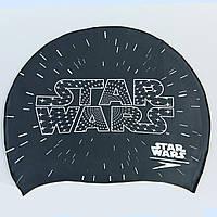 Шапочка для плавания детская SPEEDO JUNIOR SLOGAN PRINT 808386C353 Star Wars (силикон, черный-белый)