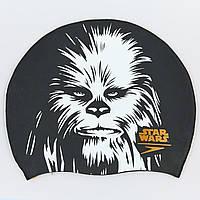 Шапочка для плавання SPEEDO SLOGAN PRINT 808385C743 Star Wars Chewbacca (силікон, чорний-білий), фото 1