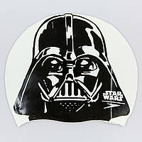 Шапочка для плавания SPEEDO SLOGAN PRINT 808385C854 Star Wars Darth Vader (силикон, белый-черный)