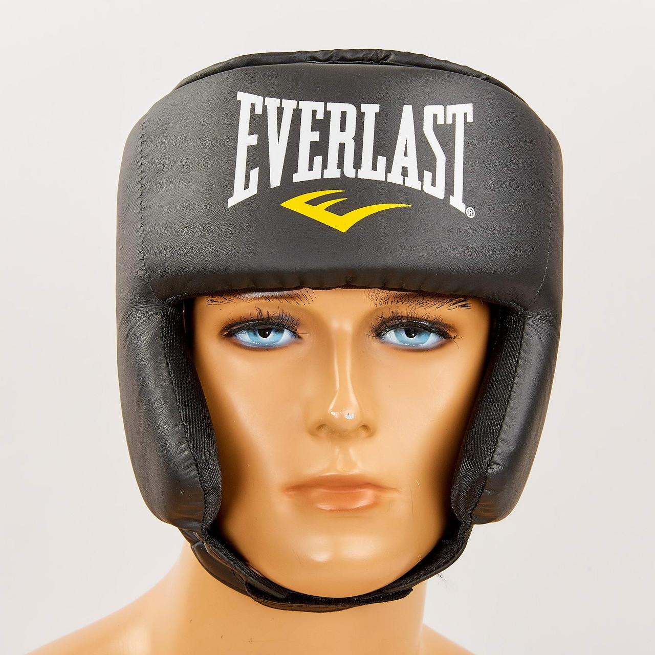 Шлем боксерский в мексиканском стиле PU EVERLAST 4022 (р-р L универсальный, черный)