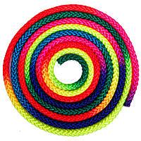 Скакалка для художественной гимнастики l-3м Радуга C-0390 (нейлон, d-8мм, мультиколор)