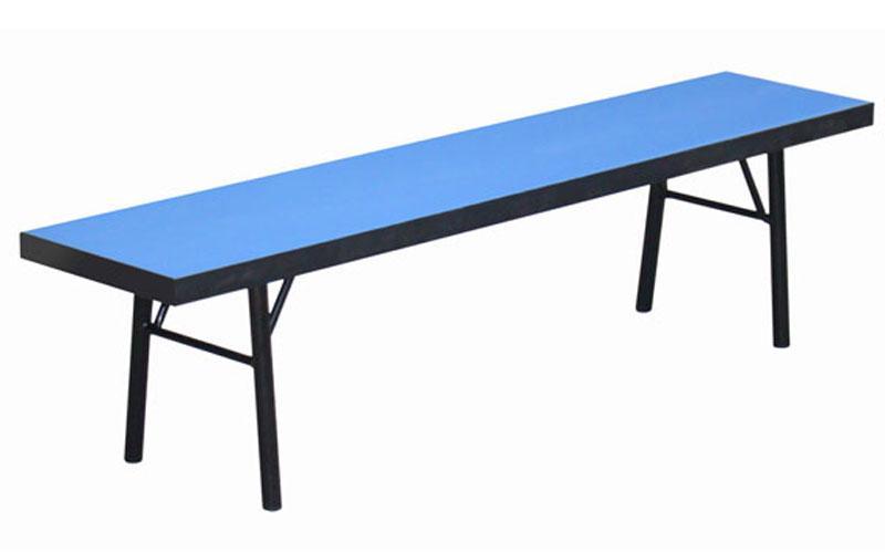 Скамейка для спортзала UR SK-130 (р-р 130x27x30см, вес 11кг, ДСП толщ.32мм, металл, пластик, синий)