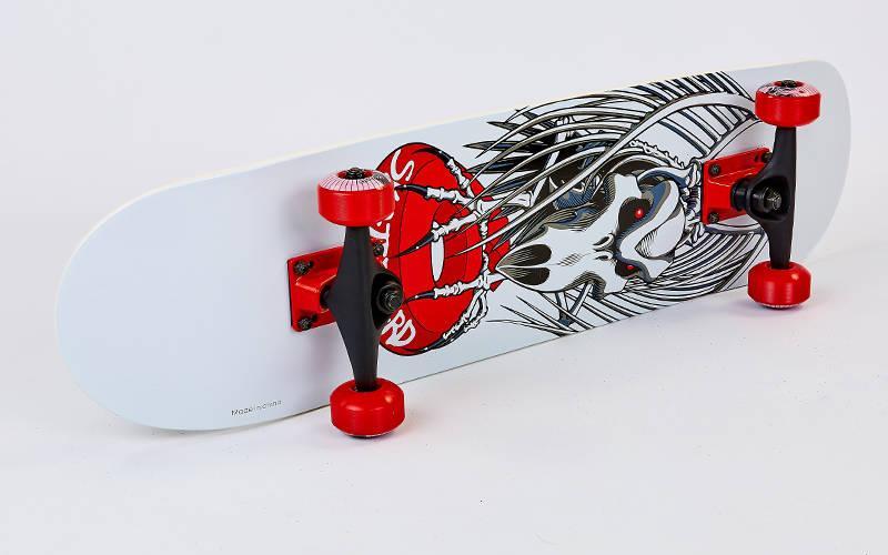 Скейтборд деревянный в сборе из канадского клена 31in SK-807 (колесо-PU, р-р деки 71x19см, АВЕС-7)