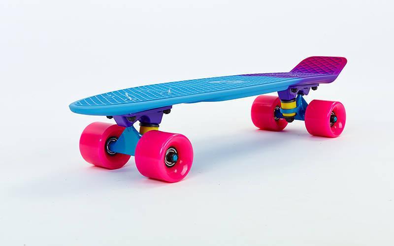 Скейтборд пластиковый Penny RUBBER SOFT FISH 22in полосатая дека SK-412-4 (MP003)
